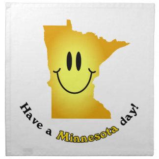 ¡Cara feliz - tenga un día de Minnesota Servilleta Imprimida