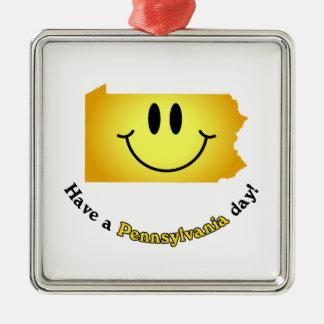 ¡Cara feliz - tenga un día de Pennsylvania! Ornato