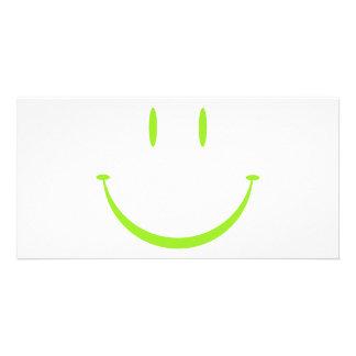 Cara feliz: Verde Tarjeta Personal