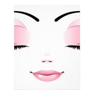 Cara femenina feliz 5 membrete personalizado
