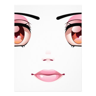 Cara femenina feliz 6 plantilla de membrete