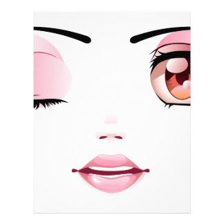 Cara femenina feliz membretes personalizados