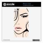 Cara femenina preciosa skins para eliPhone 4