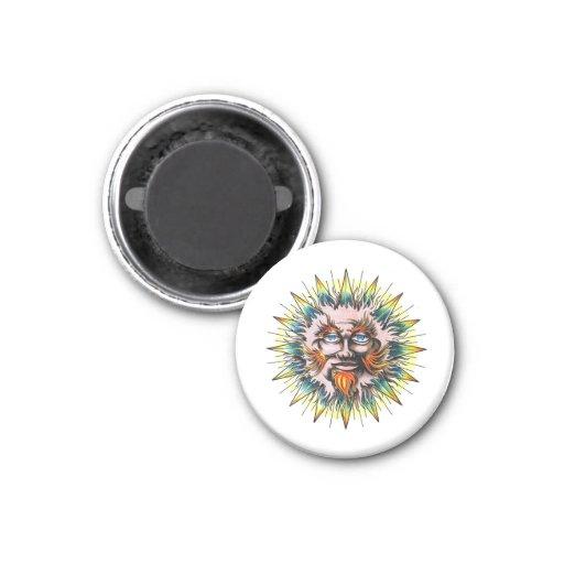 Cara fresca del sabio de Sun del símbolo del tatua Imán De Frigorifico