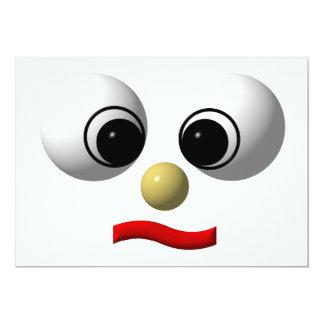 """cara Googly-observada #1 Invitación 5"""" X 7"""""""