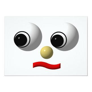 """cara Googly-observada #2 Invitación 5"""" X 7"""""""