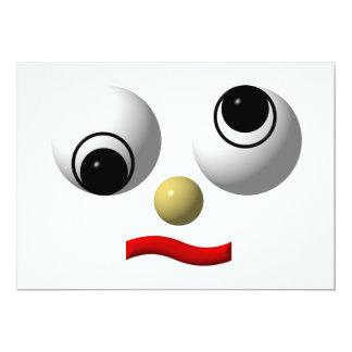 """cara Googly-observada #4 Invitación 5"""" X 7"""""""