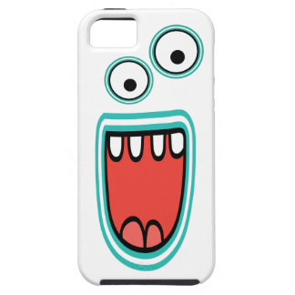 Cara Googly sonriente torpe del monstruo iPhone 5 Cárcasa