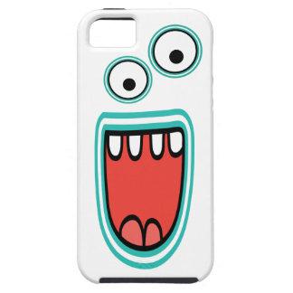 Cara Googly sonriente torpe del monstruo iPhone 5 Carcasas