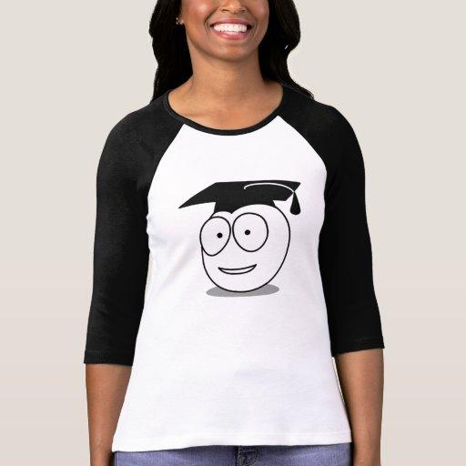 Cara graduada del dibujo animado polera