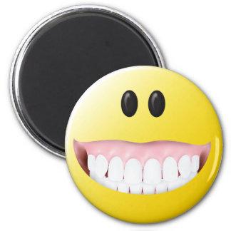 Cara grande del smiley de las gomas imán de nevera