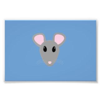 cara gris dulce del ratón cojinete
