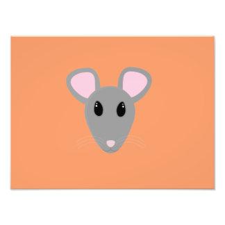 cara gris dulce del ratón fotografía