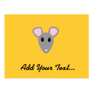 cara gris dulce del ratón postales
