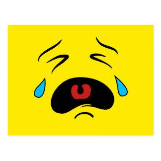Cara gritadora triste estupenda Emoji Postales