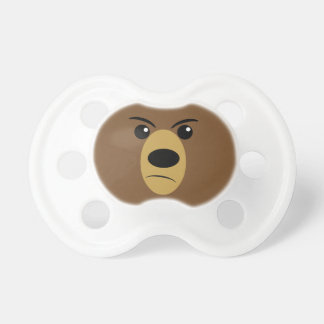 Cara gruñona del oso chupetes de bebe