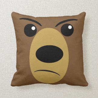 Cara gruñona del oso almohadas
