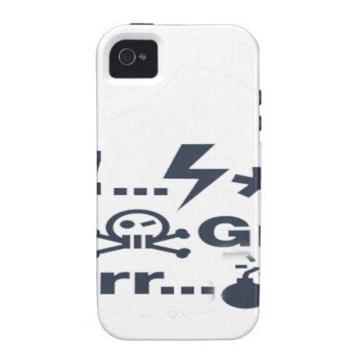 Cara gruñona, productos de Grrrrrrrr Case-Mate iPhone 4 Carcasa