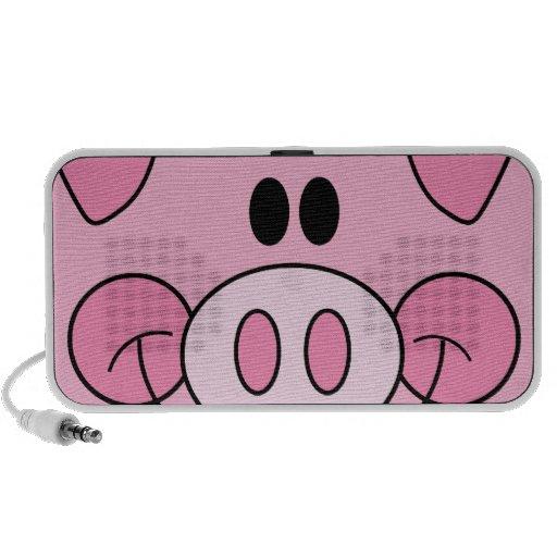 cara guarra rosada adorable linda del cerdo iPhone altavoz