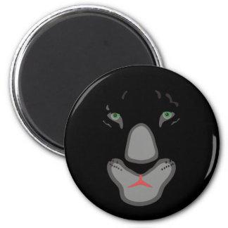 cara hermosa adaptable de la pantera negra imán redondo 5 cm