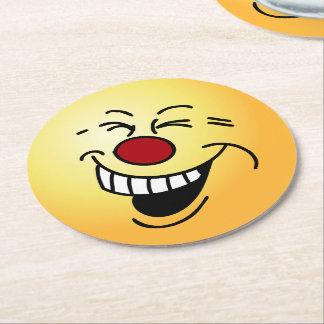Cara histérica: Este cliente quiere un reembolso Posavasos De Cartón Redondo