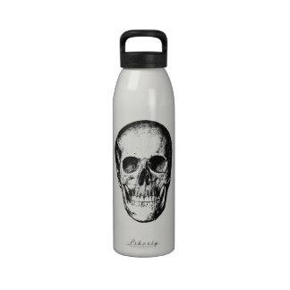 Cara humana del cráneo del vintage botellas de beber