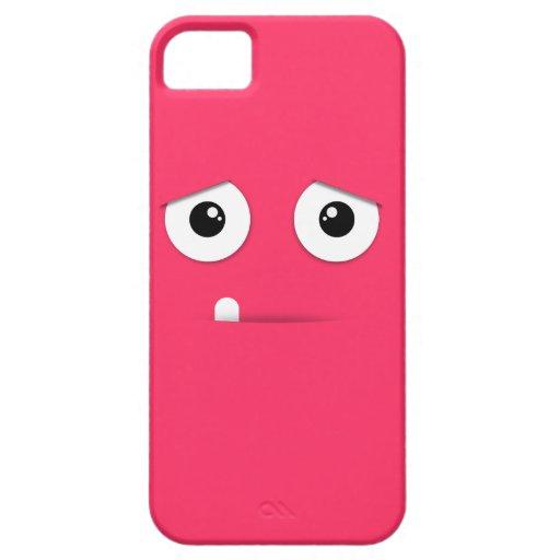 Cara ilustrada con el fondo colorido iPhone 5 Case-Mate funda