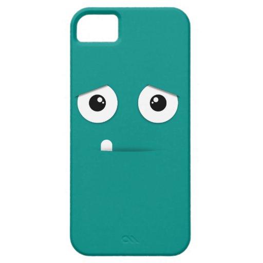 Cara ilustrada con el fondo colorido iPhone 5 Case-Mate cárcasa