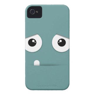 Cara ilustrada con el fondo colorido iPhone 4 fundas