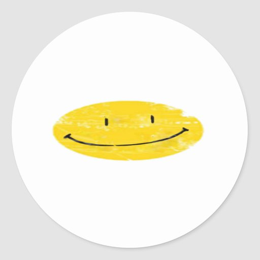 cara imperfecto feliz pegatina redonda