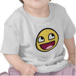 cara impresionante de la cara sonriente impresiona camisetas