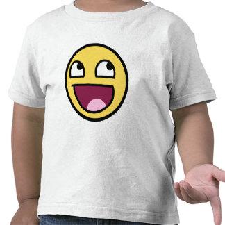 cara impresionante de la cara sonriente impresiona camiseta