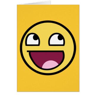 cara impresionante del smiley de /b/ felicitacion