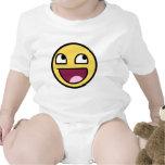 cara impresionante del smiley de /b/ traje de bebé
