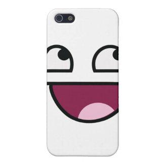 Cara impresionante del smiley de Lulz iPhone 5 Carcasas