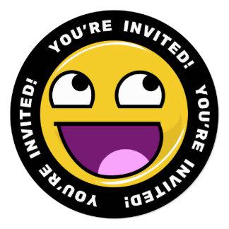 """Cara impresionante Meme Invitación 5.25"""" X 5.25"""""""