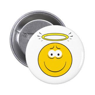 Cara inocente del smiley del ángel pins