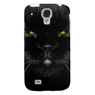 Cara iPhone3G del gato negro Funda Para Galaxy S4