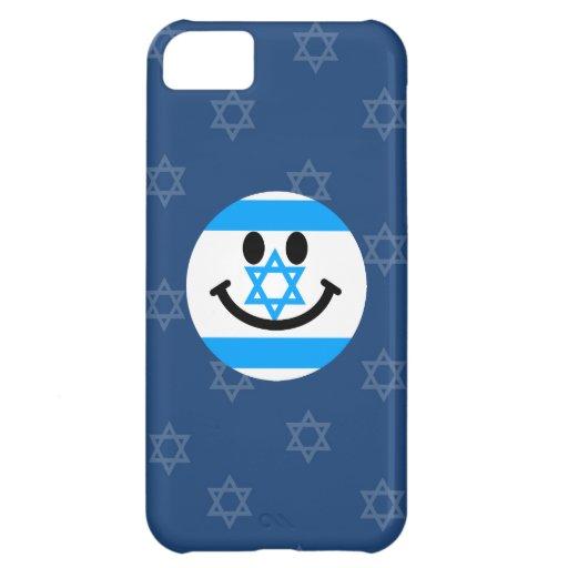Cara israelí del smiley de la bandera