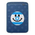 Cara israelí del smiley de la bandera funda para macbook air