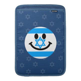 Cara israelí del smiley de la bandera fundas para macbook air