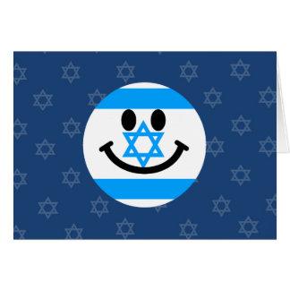 Cara israelí del smiley de la bandera tarjeton