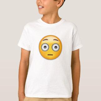 Cara limpiada con un chorro de agua Emoji Playera