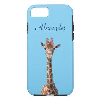 Cara linda de la jirafa funda iPhone 7