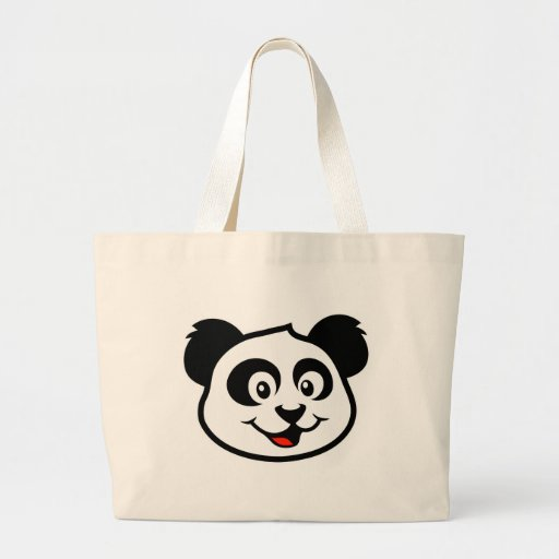 Cara linda de la panda bolsa de mano