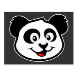 Cara linda de la panda postal