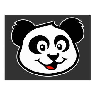 Cara linda de la panda tarjetas postales