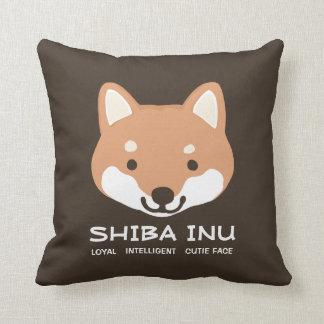 Cara linda de Shiba Inu con el texto Cojín