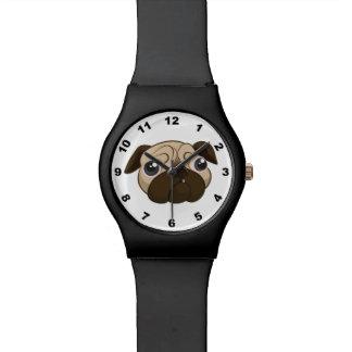 Cara linda del barro amasado relojes de mano