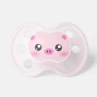 Cara linda del cerdo - minimalism del kawaii chupetes para bebés